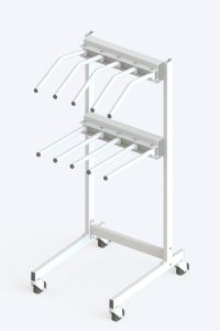 Mobile multi-hanger for radiation protective aprons and vests