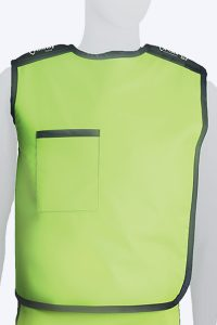 radiation protective lead lined semi-wrap vest